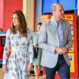 Le prince William et Kate Middleton en visite en Galles du Sud, le 5 août 2020.