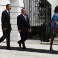Barack et Michelle Obama dans les jardins de la Maison Blanche