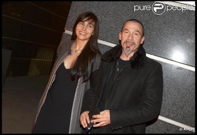 Florent Pagny et Azucena au cocktail de rentrée de TF1. 16/09/09