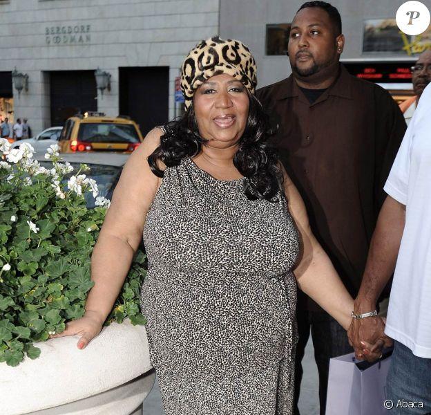 Aretha Franklin arrive au Plazza hotel à New-York le 16 septembre 2009