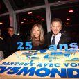 Marie-Christine Saragosse et Alain de Pouzilhac lors de la soirée spéciale 25 ans de TV5 Monde le 17 septembre 2009 à Paris