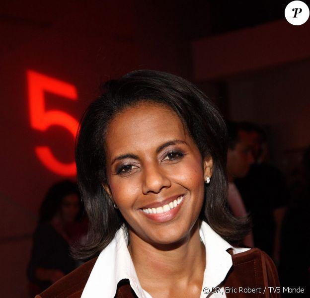 Audrey Pulvar lors de la soirée spéciale 25 ans de TV5 Monde le 17 septembre 2009 à Paris