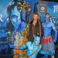 """Cécile Bois - Première du nouveau spectacle du Cirque du Soleil """"Toruk"""", inspiré du film Avatar de J. Cameron à l'AccorHotels Arena de Bercy à Paris le 4 avril 2019. © Coadic Guirec/Bestimage"""