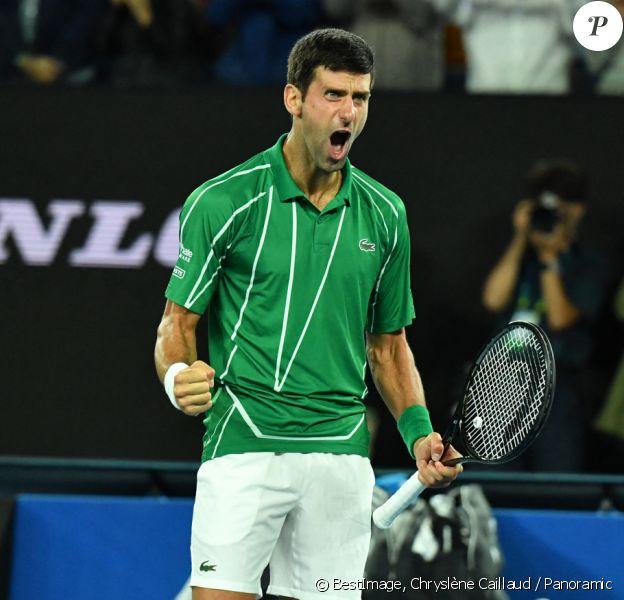 Novak Djokovic lors de l'open d'Australie 2020 à Melbourne. © Chryslène Caillaud / Panoramic / Bestimage
