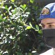 Hailey Baldwin et son homme Justin Bieber dans les rues de Beverly Hills, le 25 août 2020.