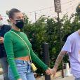 Justin Bieber et Hailey Baldwin Bieber sont allés dîner en amoureux au restaurant Nobu à Malibu, le 21 août 2020.