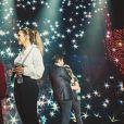 """Exclusif - Slimane et Vitaa - Scène - Enregistrement de l'émission """"Tous ensemble pour la musique"""" pour la fête de la musique 2020 à l'AccorHotels Arena à Paris le 18 juin 2020. © Cyril Moreau / Veeren Ramsamy / Bestimage"""