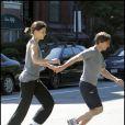 Tom Cruise et Katie Holmes en plein jogging hier à Boston!