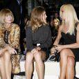 Donatella Versace, Natalia Vodianova et Anna Wintour à la Fashion Week de Londres durant le défilé Christopher Kane, le 21 septembre 2009