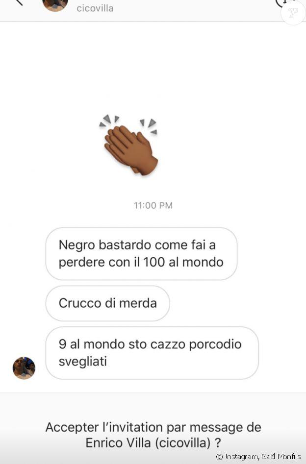 Gaël Monfils a reçu de nombreux messages d'insultes après sa défaite en 32e de finale du Masters 1000 de Rome, face à l'Allemand Dominic Koepfer. Story Instagram du jeudi 17 septembre 2020.