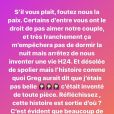 Angèle Salentino recadre ses haters le 18 septembre 2020.