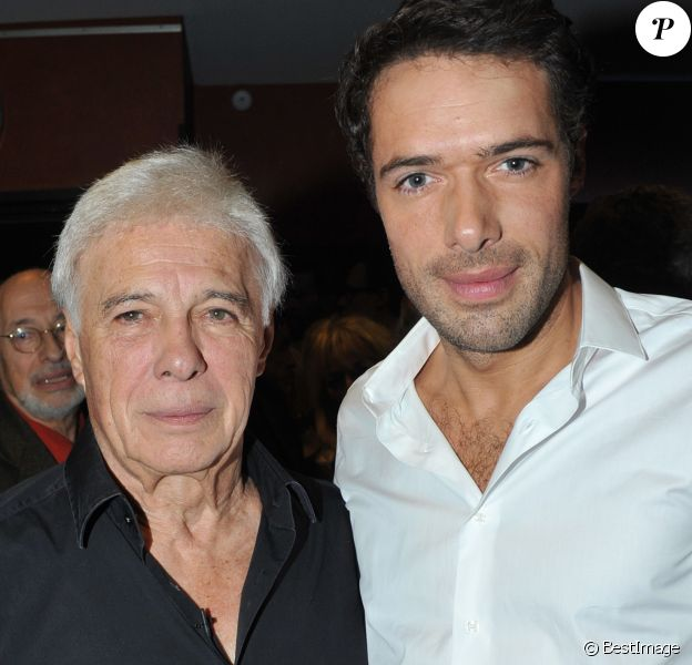 """Exclusif - Guy et son fils Nicolas Bedos - Aftershow du spectacle de Guy Bedos """"La der des der"""" a l'Olympia a Paris."""
