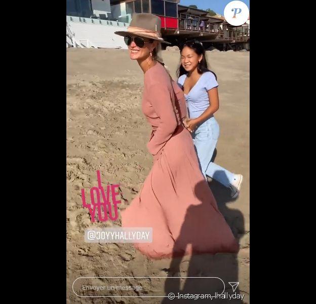 Laeticia Hallyday et sa fille Joy sur Instagram, 2020.