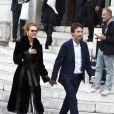 Natalia Vodianova et son compagnon Antoine Arnault - Célébrités au défilé Stella McCartney Collection Prêt-à-Porter Printemps/Eté 2020