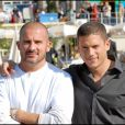 """Dominic Purcell et Wentworth Miller - Photocall de la série """"Prison Break"""" à Cannes."""