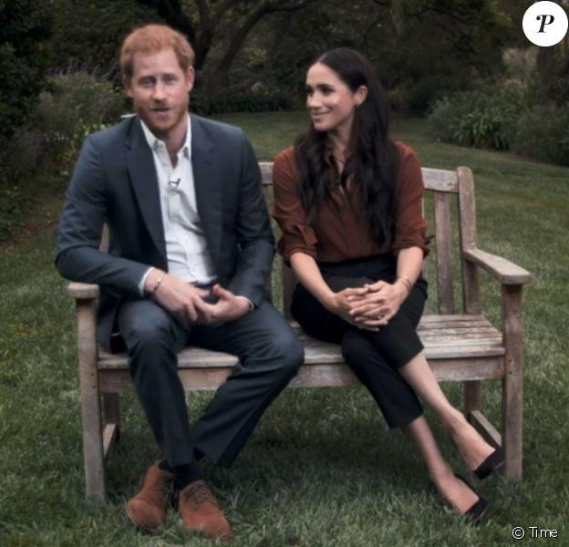"""Le prince Harry et Meghan Markle appellent les Américains à voter lors des prochaines élections présidentielles aux Etats-Unis. 2020, """"Time Magazine""""."""