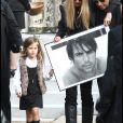 Sasha (fille de Filip Nikolic et Valérie Bourdin) - Obsèques de Flip Nikolic en l'église russe de Sainte-Geneviève des Bois.