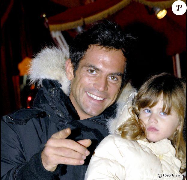 """Filip Nikolic et sa fille Sasha- Soirée caritative au cirque Arlette Gruss au profite de l'association """"rêves""""."""
