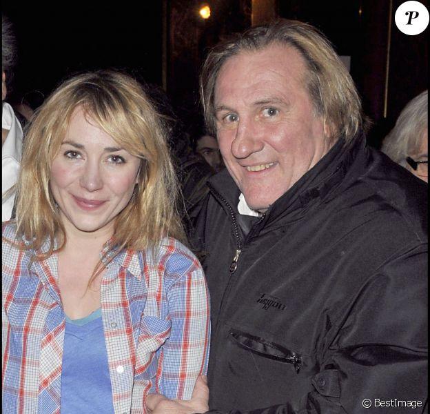 Gérard Depardieu et sa fille Julie à Paris (photo d'archives).