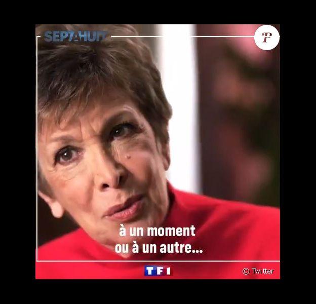 """Catherine Laborde dans le portrait de la semaine de """"Sept à Huit"""" (TF1) pour évoquer sa maladie, la maladie à corps de Lewy."""
