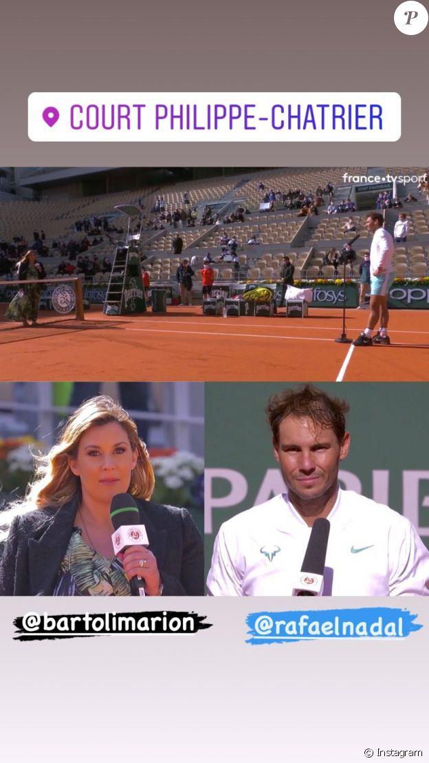Marion Bartoli et son mari à Roland Garros.