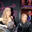 Cathy et David Guetta soirée Renaut à Paris, en 2012