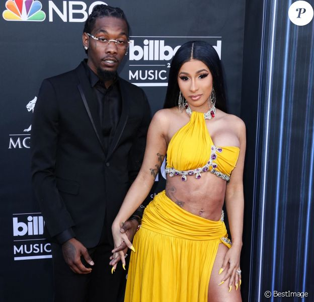 """Offset et Cardi B - People à la soirée des """"Billboard Music Awards 2019"""" au MGM Grand Garden Arena à Las Vegas."""