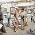 Loana en tournage avec Bernard Menez à Saint-Tropez (été 2006)