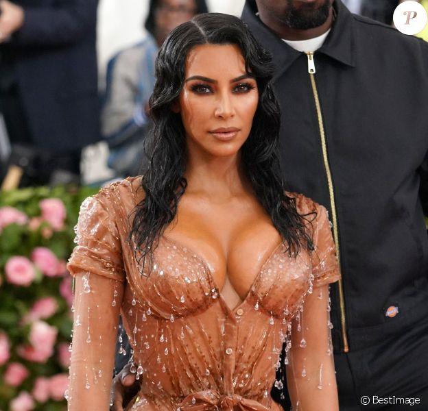 """Kanye West et sa femme Kim Kardashian - Arrivées des people à la 71ème édition du MET Gala (Met Ball, Costume Institute Benefit) sur le thème """"Camp: Notes on Fashion"""" au Metropolitan Museum of Art à New York"""