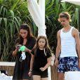 Exclusif - La famille Beckham en vacances dans la région des Pouilles en Italie. Victoria et son mari David profitent de leurs 4 enfants Brooklyn, Cruz, Romeo et Harper. Nicola Peltz, la fiancée de Brooklyn est de la partie Le 13 juillet 2020