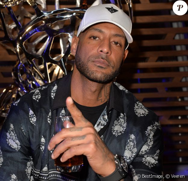 "Booba à la soirée ""Hublot loves Art"" par la marque Hublot à la Fondation Louis Vuitton à Paris. © Veeren / Bestimage"