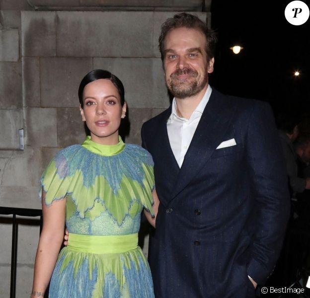 Lily Allen et son compagnon David Harbour - Charles Finch & CHANEL Pre-BAFTA Party à Londres, 2020.