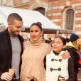 Wafa avec son mari Oliver et ses filles Manel et Jenna, novembre 2019