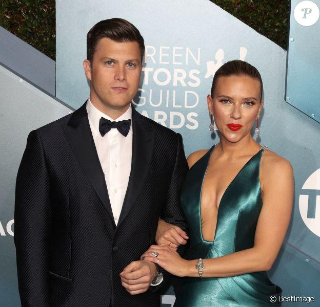 """Scarlett Johansson et son fiancé Colin Jost - 26ème cérémonie annuelle des """"Screen Actors Guild Awards"""" (""""SAG Awards"""") au """"Shrine Auditorium"""" à Los Angeles"""