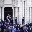 Gérald Darmanin, ministre de l'Intérieur, Éric Dupond-Moretti, ministre de la Justice, Éric Ciotti, Christian Estrosi, maire de Nice - Arrivée du président Emmanuel Macron - Attentat de Nice - Un homme a attaqué au couteau plusieurs personnes au sein de la basilique Notre-Dame de Nice le 29 octobre 2020. Un corps est évacué dans une ambulance des pompiers. Une attaque à l'arme blanche a eu lieu ce jeudi matin dans la basilique Notre-Dame de Nice, faisant au moins trois morts et plusieurs blessés. L'auteur des faits, grièvement blessé, a été interpellé. Le parquet national antiterroriste est saisi. © Norbert Scanella / Panoramic / Bestimage