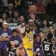 LeBron James lors du match NBA de basketball opposant les Los Angeles Lakers aux San Antonio Spurs au Staples Center de Los Angeles, Californie, Etats-Unis, le 4 février 2020. Les Lakers ont gagné 129-102. © Prensa Internaciona/Zuma Press/Bestimage