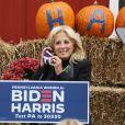 Jill Biden, la femme du candidat démocrate J. Biden, appelle au vote à Morrisville, quelques semaines avant les élections présidentielles américaines prévues le 3 novembre 2020.