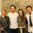 """Pascal Obispo et son épouse Julie, Florent Pagny, Vianney et sa compagne Catherine Robert, Patrick Bruel sur Instagram, 2020. En coulisse de l'émission """"Unis pour le Liban"""" diffusée sur France 2."""
