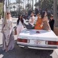 Kris Jenner fête son anniversaire (64 ans) avec ses filles Khloé, Kim, Kylie, Kourtney et Kendall. Novembre 2019.
