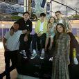 David Beckham, Victoria Beckham et leurs quatre enfants Brooklyn, Romeo, Cruz et Harper. Novembre 2019.