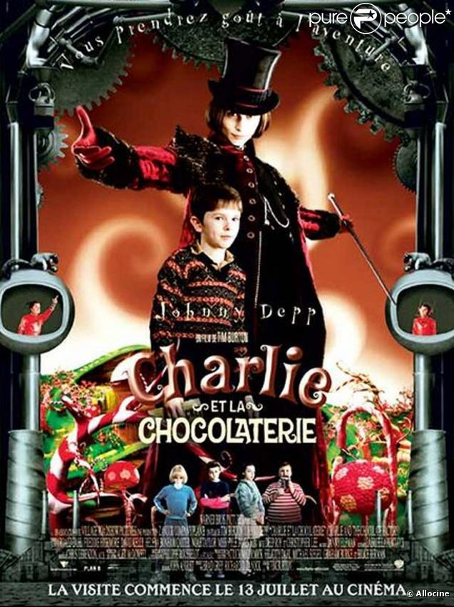 Des images du film  Charlie et la chocolaterie  qui serviront de base à la création de la comédie musicale.