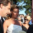 Mariage d'Ingrid Chauvin et de Thierry Peythieu à Lège Cap-Ferret. Le 27 août 2011.