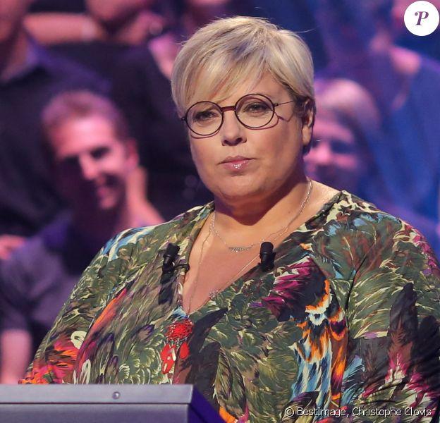 """Laurence Boccolini - Enregistrement à l'occasion des 15 ans de l'émission """"Qui veut gagner des millions ?"""" sur TF1 au studio Carrère A de La Plaine Saint-Denis"""