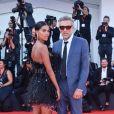 """Vincent Cassel et sa femme Tina Kunakey - Red carpet du film """"J'accuse"""" lors du 76ème Festival du Film de Venise, la Mostra à Venise en Italie le 30 Août 2019."""