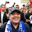 """Diego Armando Maradona est nommé président du club de football """"Dinamo Brest"""" en Biélorussie. A cette occasion il donne une conférence de presse puis se rend au stade rencontrer les supporters du club. Brest, le 16 juillet 2018."""