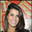 """Karine Ferri arrive à Bobino pour voir """"La Clique"""". 05/10/09"""