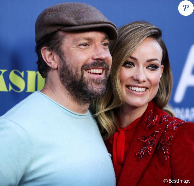Jason Sudeikis et sa fiancée Olivia Wilde à la projection de Booksmart à l'hôtel Ace à Los Angeles, le 13 mai 2019