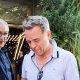 """Guillaume de Tonquédec arrive à l'enregistrement de l'émission """"Vivement Dimanche Prochain"""" au studio Gabriel à Paris, France, le 21 août 2019."""