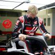 Mick Schumacher, nouveau pilote de l'écurie Haas, lors des préparatifs pour le Grand Prix de Formule 1 de Sakhir. Le 2 décembre 2020 © Motorsport Images / Panoramic / Bestimage