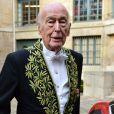 Valéry Giscard d'Estaing - Le philosophe Alain Finkielkraut entre à l'Académie Française à Paris © Giancarlo Gorassini/Bestimage